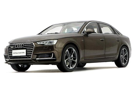 1:18 White / Brown / Silver 2017 Diecast New Audi A4L Model