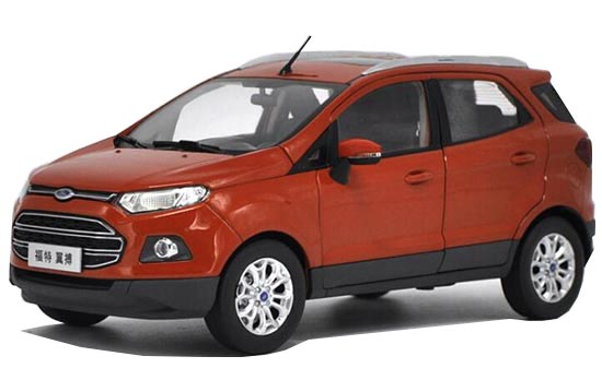 Orange 1:18 Scale Diecast Ford EcoSport Model