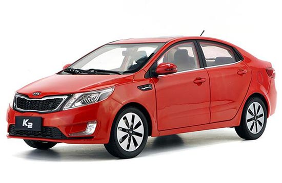 Blue / Red / Silver 1:18 Scale Diecast Kia K2 Model