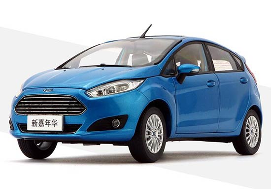 1:18 Scale Blue Diecast Ford New Fiesta Model
