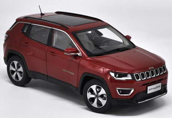1 18 Scale Red Silver White Diecast Jeep Compass Model Nb1t898 Ezbustoys Com