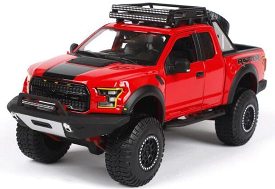 1:24 Maisto 2017 Diecast Ford F-150 Raptor Pickup Truck Model