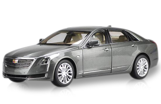 1:18 Scale Gray / White 2016 Diecast Cadillac CT6 Model