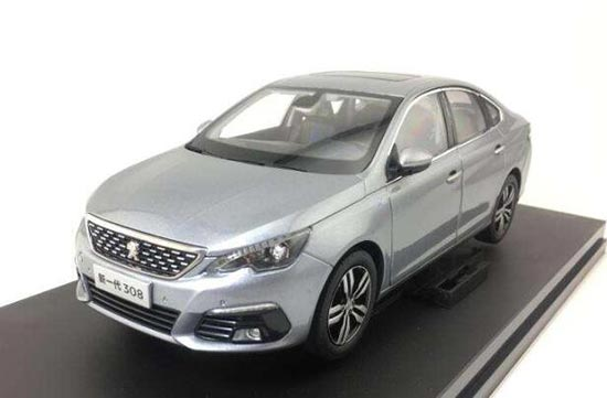 1:18 Scale Gray Diecast Peugeot 308 Model