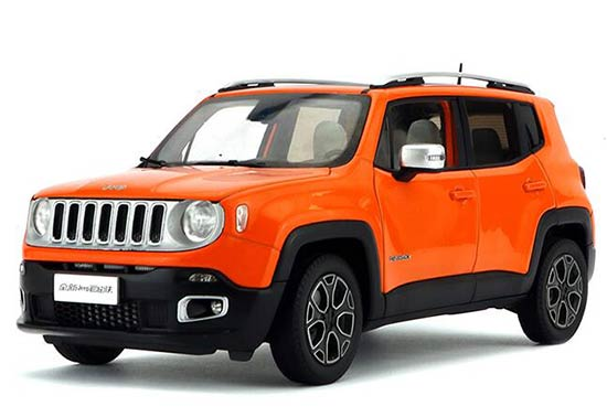 White / Orange / Red / Gray 1:18 Diecast Jeep Renegade Model