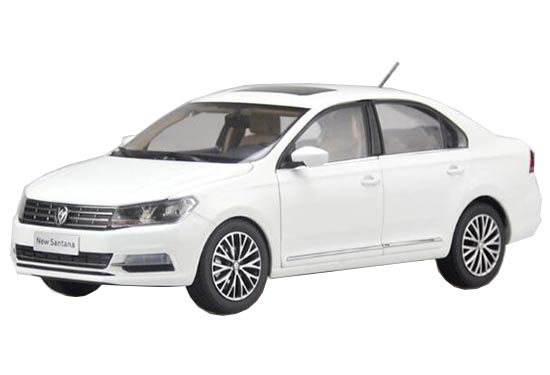 1:18 Scale White / Golden 2017 Diecast VW New Santana Model