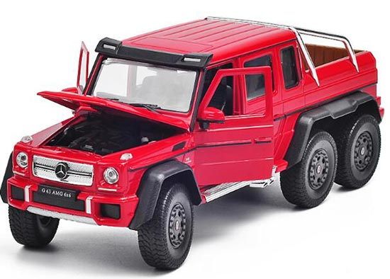 1:24 Welly Diecast Mercedes Benz G63 AMG Pickup Truck Model