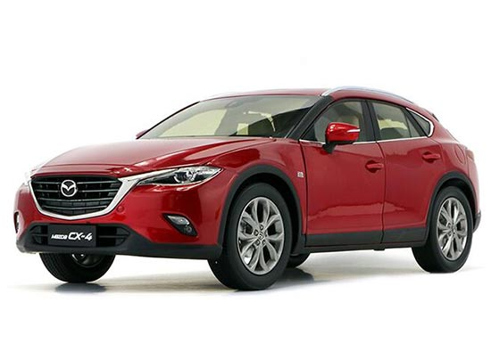 Red 1:18 Scale Diecast Mazda CX-4 Model