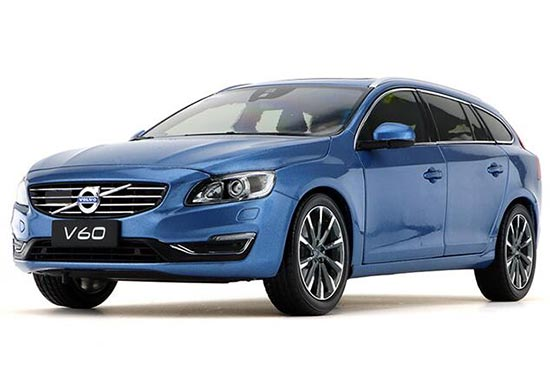 1:18 Scale White / Blue Diecast Volvo V60 Model
