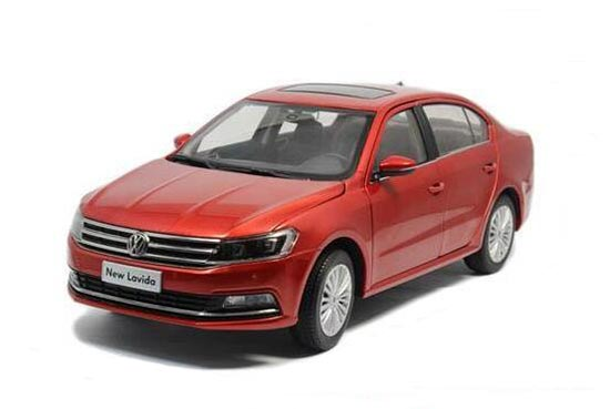 1:18 White / Red / Silver 2015 Diecast VW New Lavida Model