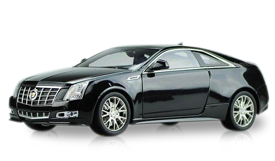 1:18 Scale Black / Silver Diecast Cadillac CTS Coupe Model