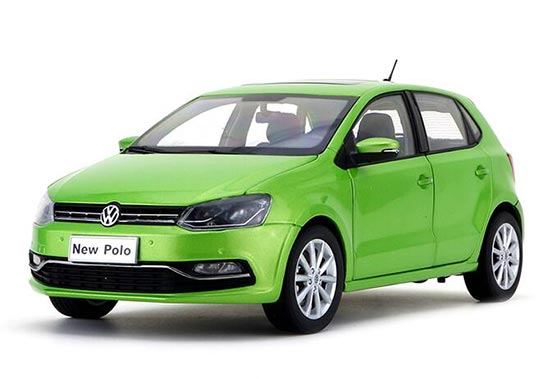 Red / Green / Yellow 1:18 Scale 2016 Diecast VW New Polo Model