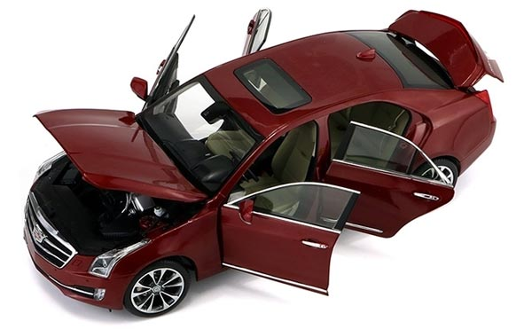 Red / White 1:18 Scale 2016 Diecast Cadillac ATS-L Model
