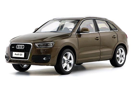 Brown / Silver / Orange 1:18 Scale Diecast Audi Q3 Model