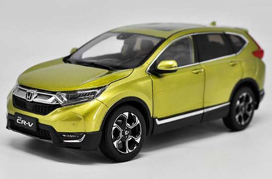 1:18 Scale Yellow 2017 Diecast Honda CR-V Model