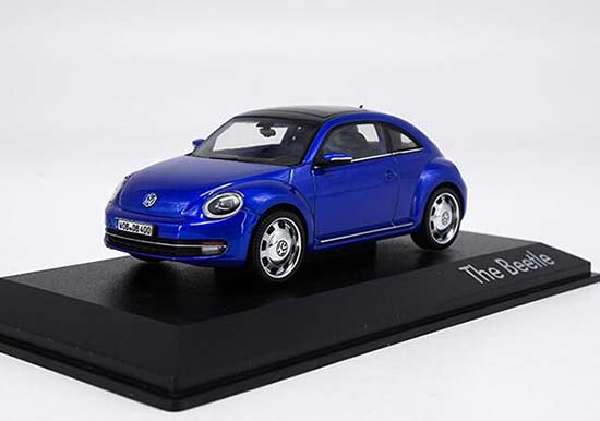 1:43 Scale Blue Diecast VW Beetle Model