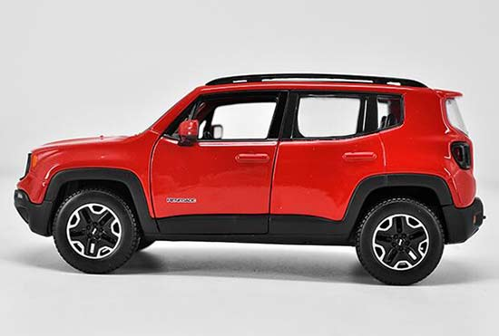 Red 124 Scale Maisto Diecast Jeep Renegade Model Nb1t979