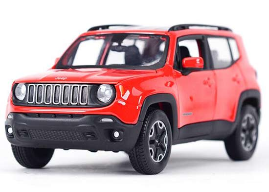 Red 1:24 Scale Maisto Diecast Jeep Renegade Model