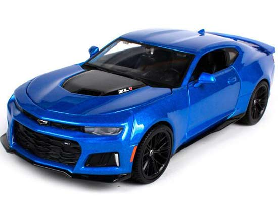 1:24 Scale Blue Maisto 2017 Diecast Chevrolet Camaro ZL1 Model