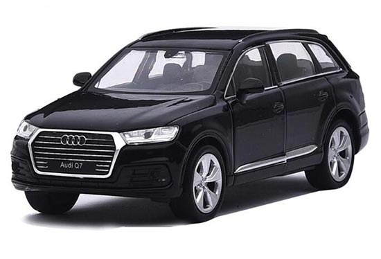 Kids 1:36 Scale Welly Black / White Diecast Audi Q7 Car Toy