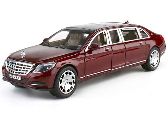 1:24 Black / Wine Red Diecast Mercedes-Benz Maybach S600 Toy