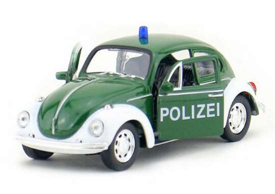 1:36 Scale Green Kids Welly Police Diecast VW Beetle Toy