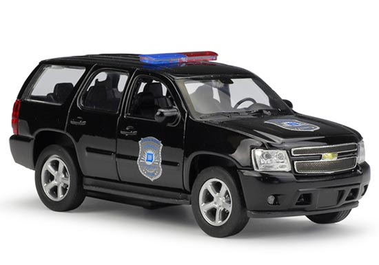 Black 1:36 Scale Kids Welly 2008 Diecast Chevrolet Tahoe Toy