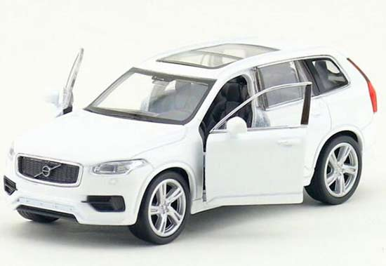 1:36 Scale Kids White / Blue Welly Diecast Volvo XC90 Toy