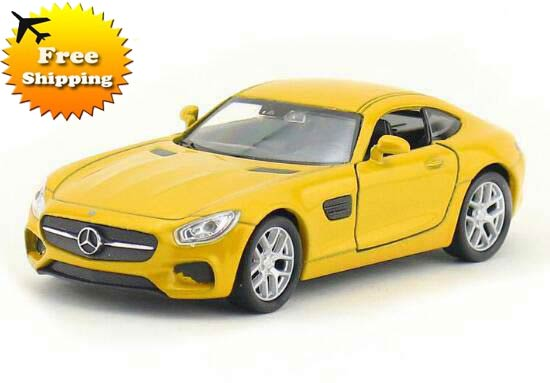 Kids Welly Yellow / Red 1:36 Diecast Mercedes Benz AMG GT Toy