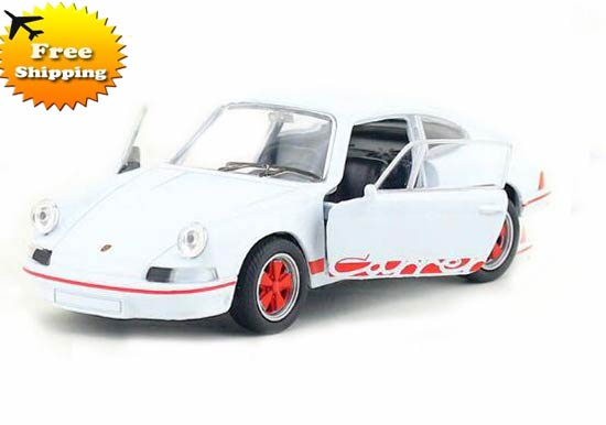 White Kids Welly 1:36 Diecast 1973 Porsche Carrera RS Toy