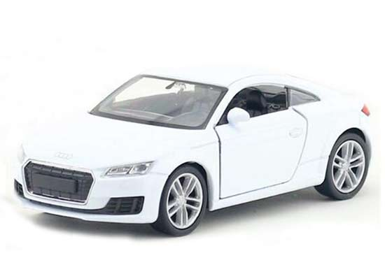 White / Red / Yellow Kids 1:36 Scale Diecast Audi TT Coupe Toy