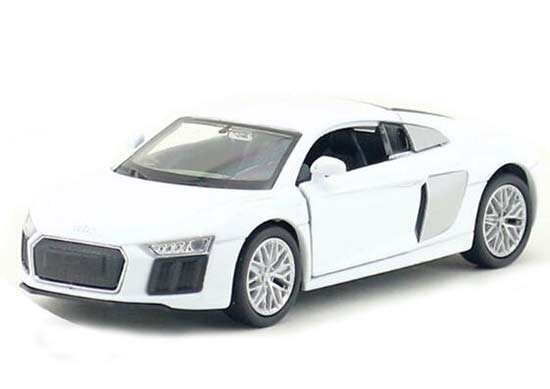 White / Blue Kids 1:36 Scale Welly 2016 Diecast Audi R8 V10 Toy