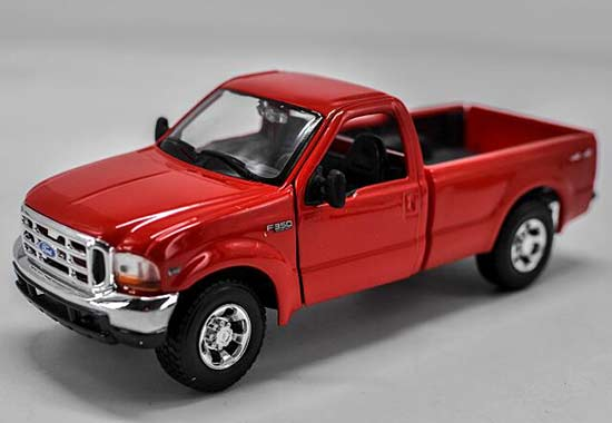 Red 1:24 Scale Maisto Diecast Ford F-350 Pickup Truck Model