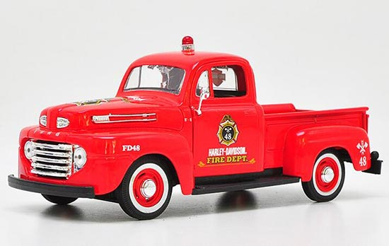 Red 1:27 Scale Maisto Diecast Ford F-1 Pickup Truck Model