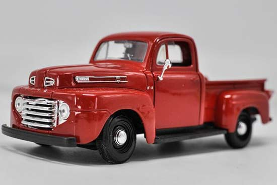 1:27 Scale Red Maisto Diecast Ford F-1 Pickup Truck Model