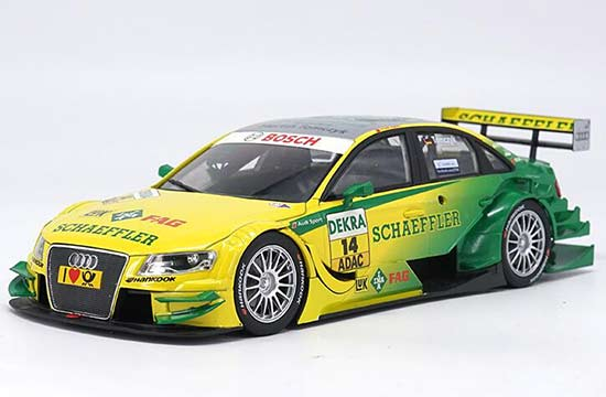 Yellow-Green Norev 1:18 Scale Diecast Audi A4 DTM Model