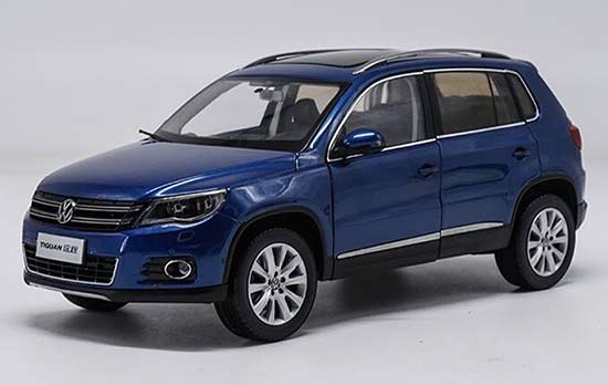 1:18 Scale Blue Diecast 2008 VW Tiguan Model