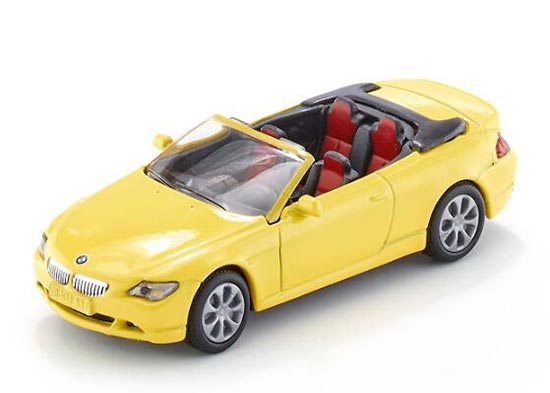 Yellow SIKU 1007 Diecast BMW 645i Cabrio Toy