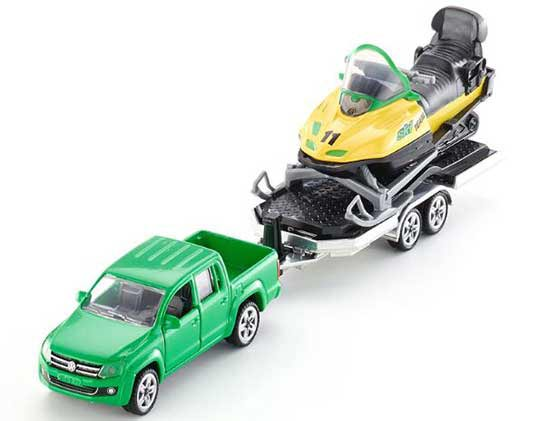 Green 1:55 Scale Kids SIKU 2548 Diecast VW Pickup Truck Toy