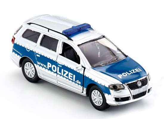 Kids Silver-Blue SIKU 1401 Police Diecast VW Car Toy