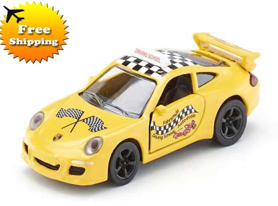 Yellow Kids Mini Scale SIKU 1457 Diecast Porsche 911 Car Toy