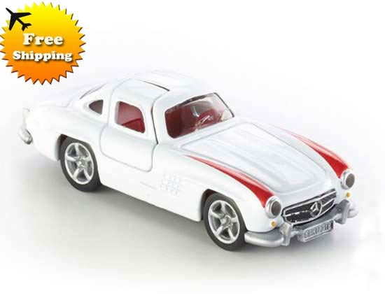 White-Red Kids SIKU 1470 Diecast Mercedes-Benz 300SL Toy