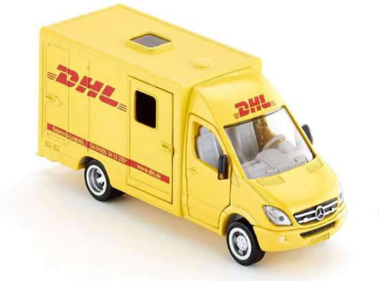 Kids 1:50 Yellow DHL SIKU 1936 Diecast Mercedes-Benz Van Toy