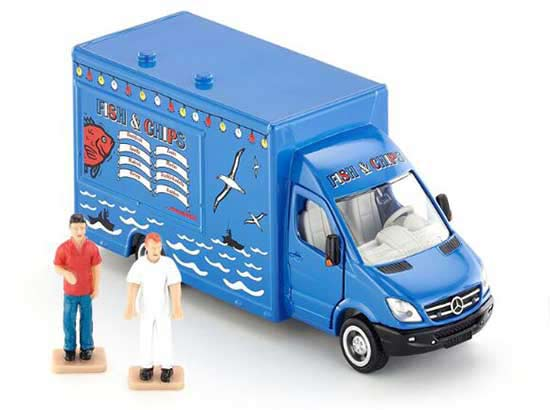 Kids 1:50 Blue SIKU 1933 Diecast Mercedes-Benz Van Toy