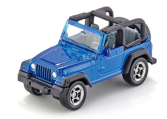 Kids Blue SIKU 1342 Diecast Jeep Wrangler Toy
