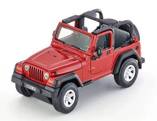 Kids Red 1:32 Scale SIKU 4870 Diecast Jeep Wrangler Toy