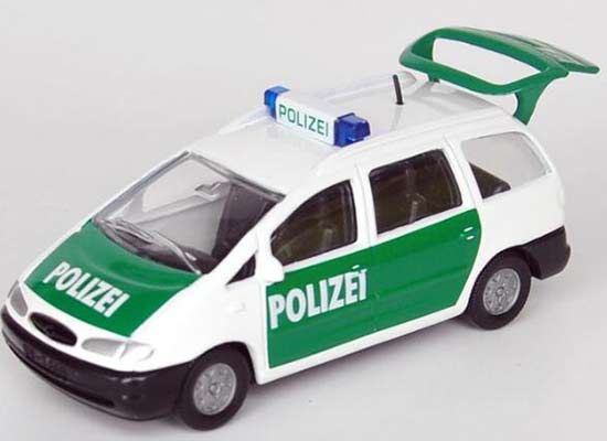 Kids White-Green SIKU 1365 Diecast Ford Police Car Toy