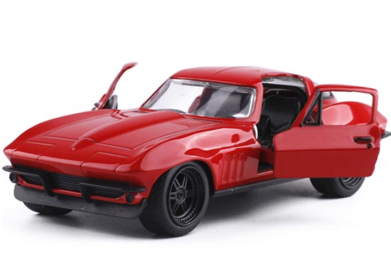 Red 1:32 Scale JADA Kids Diecast 1966 Chevrolet Corvette Toy