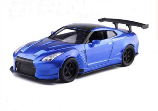 1:24 Scale JADA Blue Diecast 2009 Nissan GT-R R35 Model