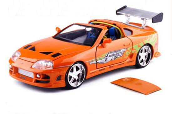 Orange 1:24 Scale JADA Diecast Toyota Supra Model
